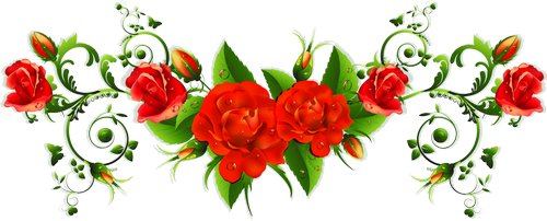clipart psd Gentle roses download ( transparent background ).