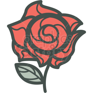 rose vector icon image . Royalty.