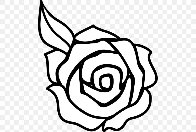 Rose Outline Drawing Clip Art, PNG, 501x550px, Rose, Art.