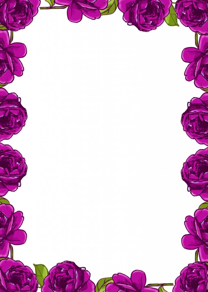 Rose Flower Border http://flowerborderdesign.com/printable.