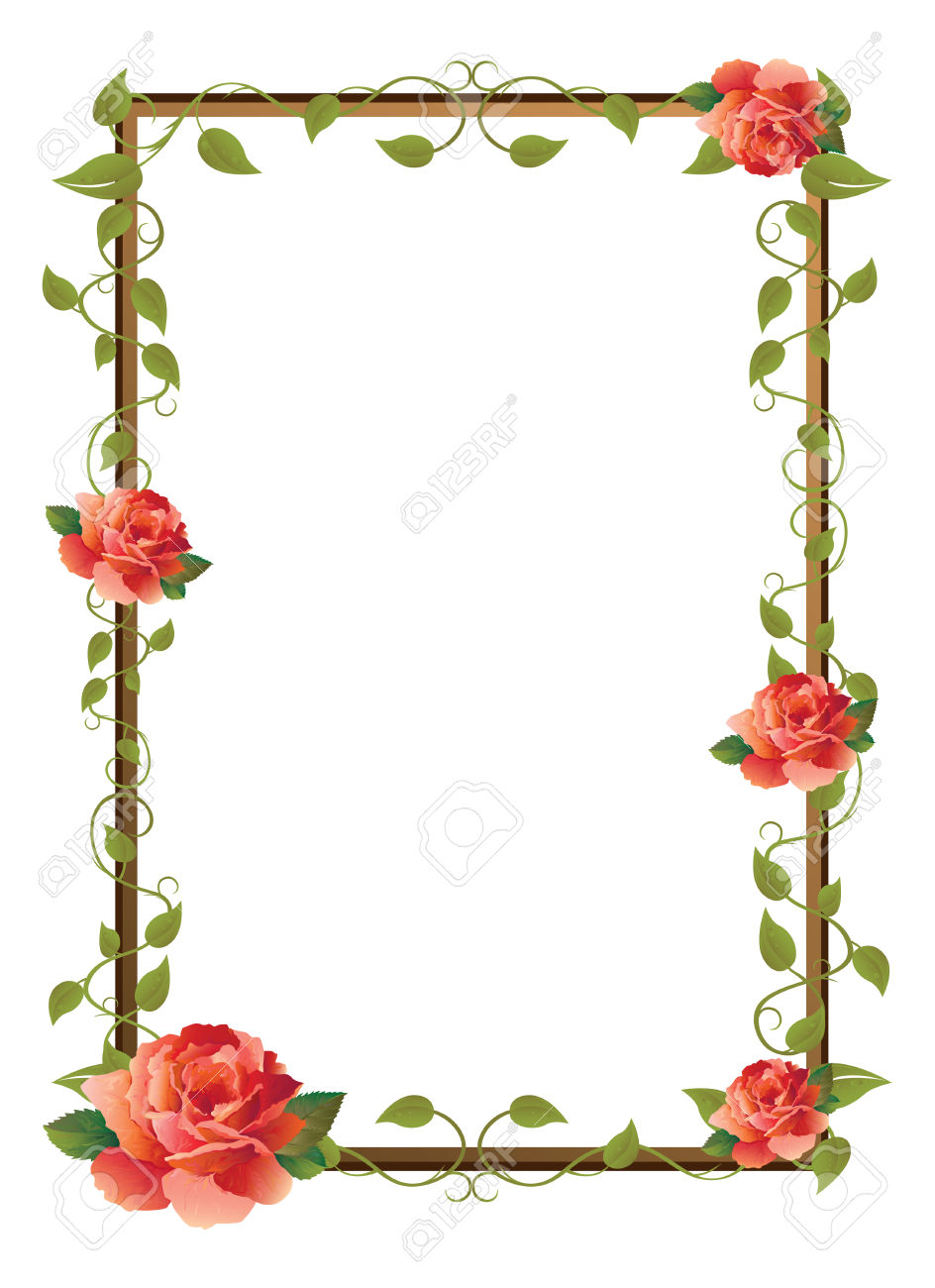 Frame For Picture With Rose Royalty Free Cliparts, Vectors, And.