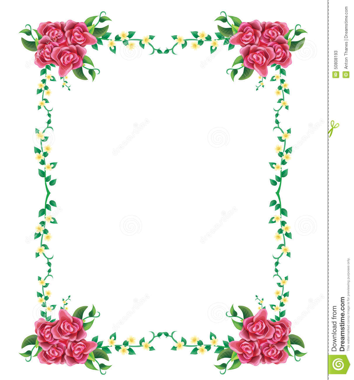 Wedding And Certificate Floral Border Border Clipart: Rose Flower Borders 20 Free Cliparts