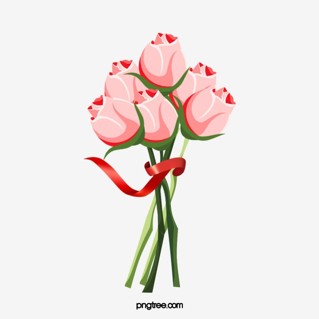 Red Rose Bouquet PNG Images.