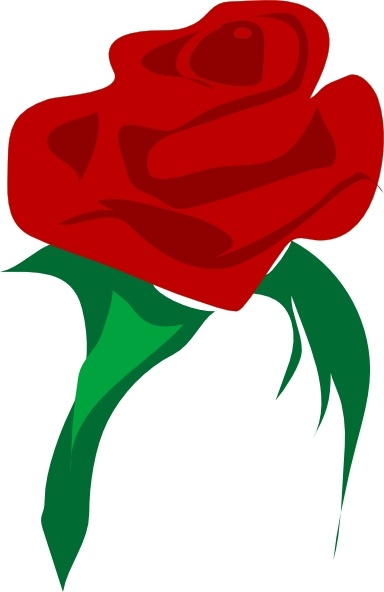 Rose Red Flower clip art Free vector in Open office drawing svg.