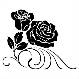Rose flower clipart.