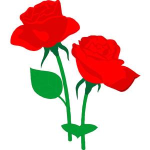 Rose flower clipart.