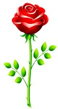 free red rose flower clip art.