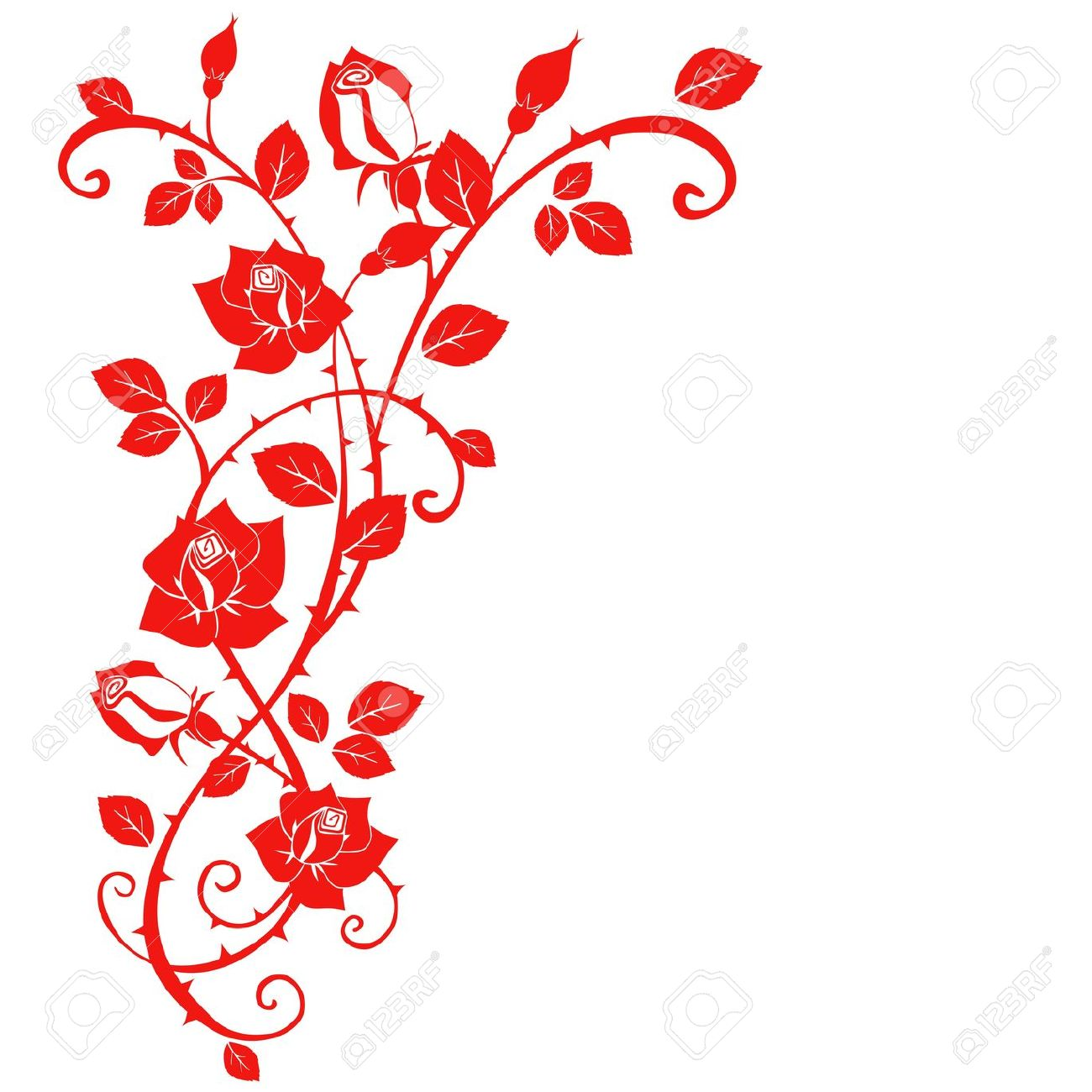 20,715 Rose Border Stock Illustrations, Cliparts And Royalty Free.