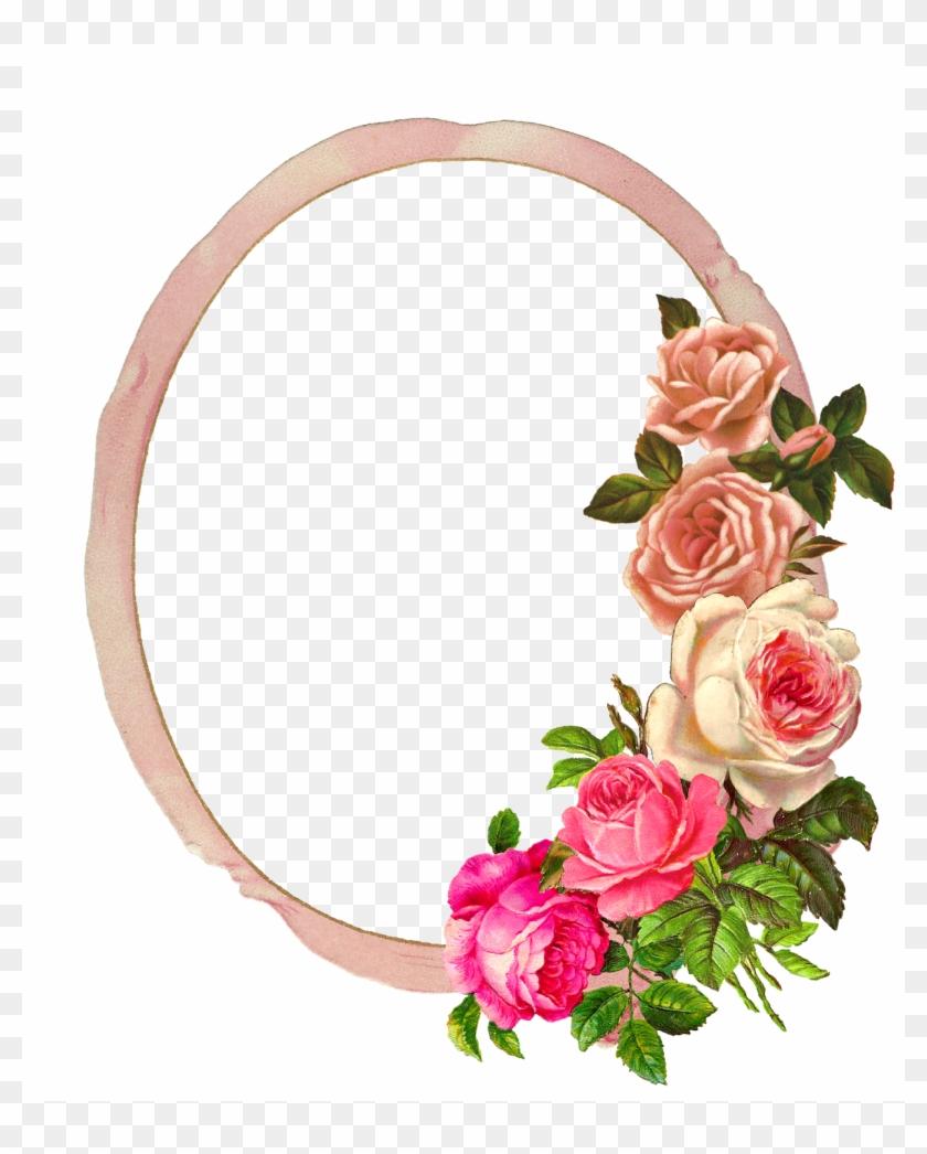 Digital Rose Frame.