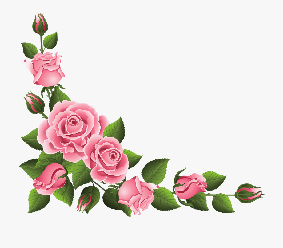 Garland clipart pink rose, Picture #2742167 garland clipart.