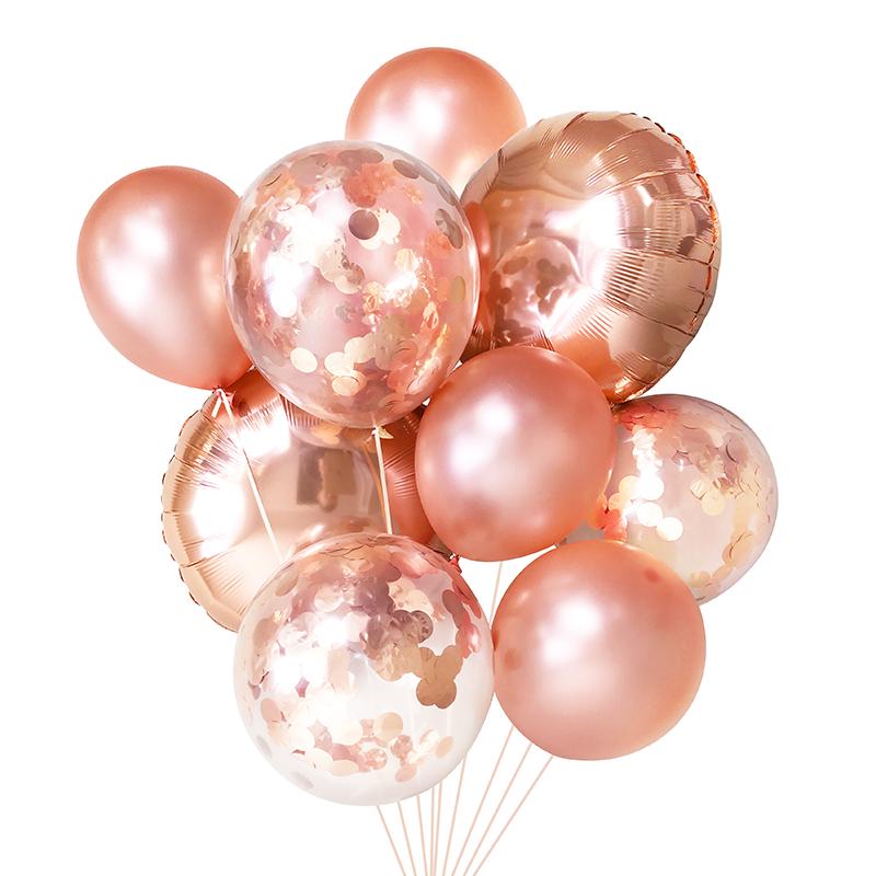 Rose Gold Balloon Bouquet.