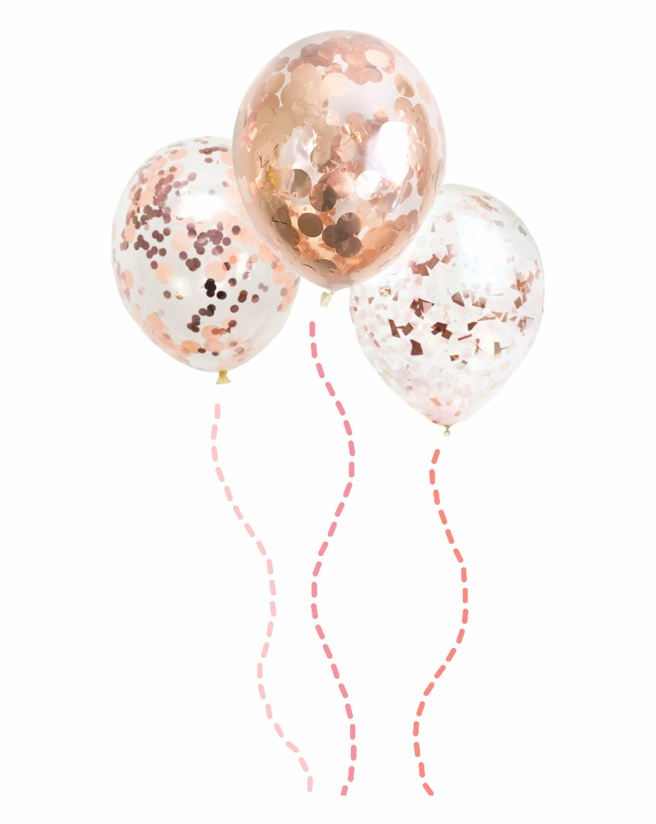 Balloons Rosegold Confetti Decoration Scrapbooking Sphere.
