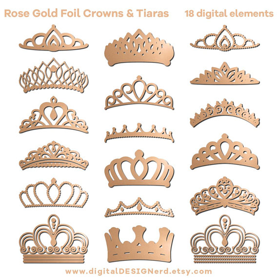 Rose Gold Crown Clipart.
