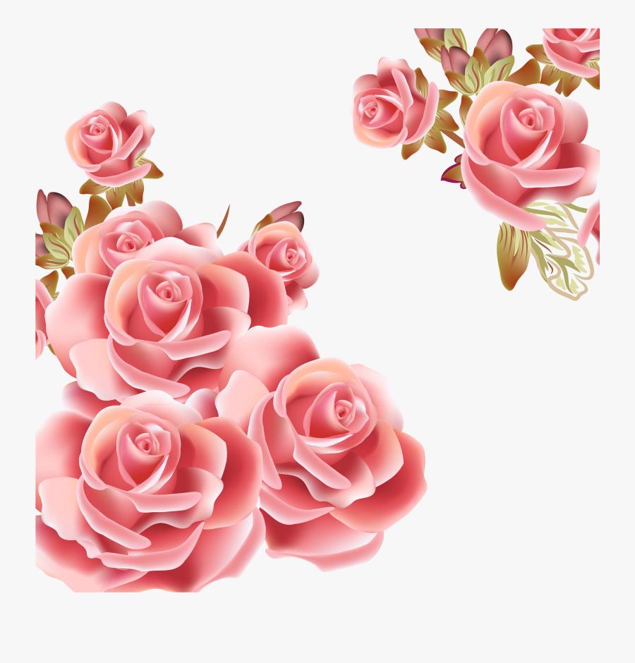 Peach Flower Clipart Vector.
