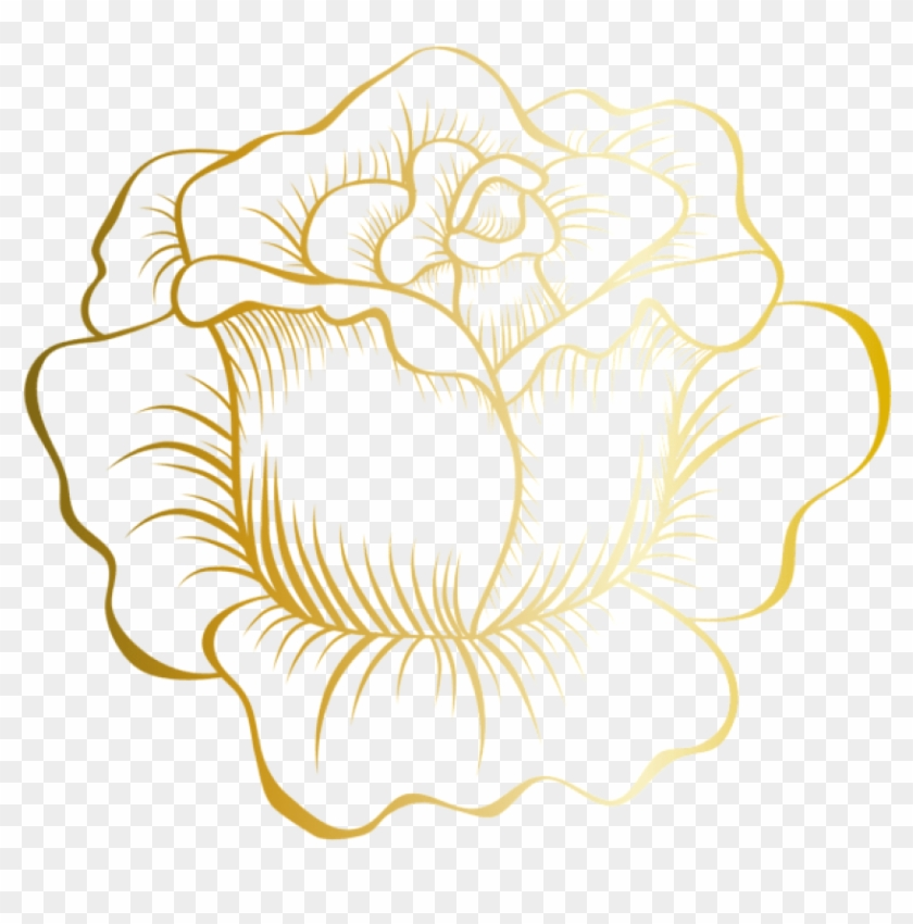 Download Golden Rose Clipart Png Photo.