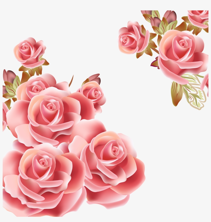Bokeh Vector Rose Gold Flower Pink Clip Art Image Free.