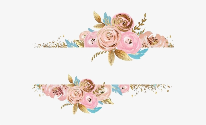 Rose Gold Flower Png Pink Flowers Dress Rectangular.