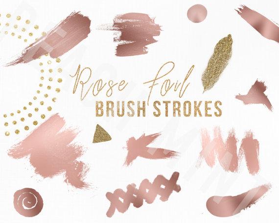 Rose Foil Strokes.