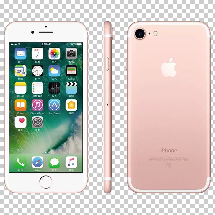 IPhone 4 iPad 4G Smartphone LTE, Rose Gold iPhone7 phone PNG.