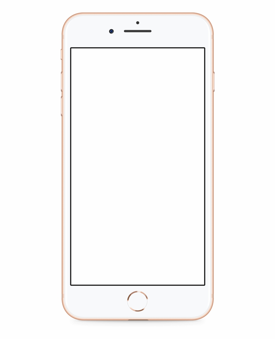 Apple Iphone 8 Gold Transparent Png Image.
