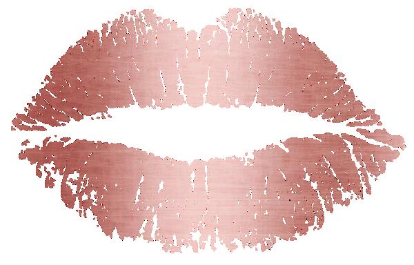 Makeup Artist Rose Gold Lips Trendy Dripping Business Card.