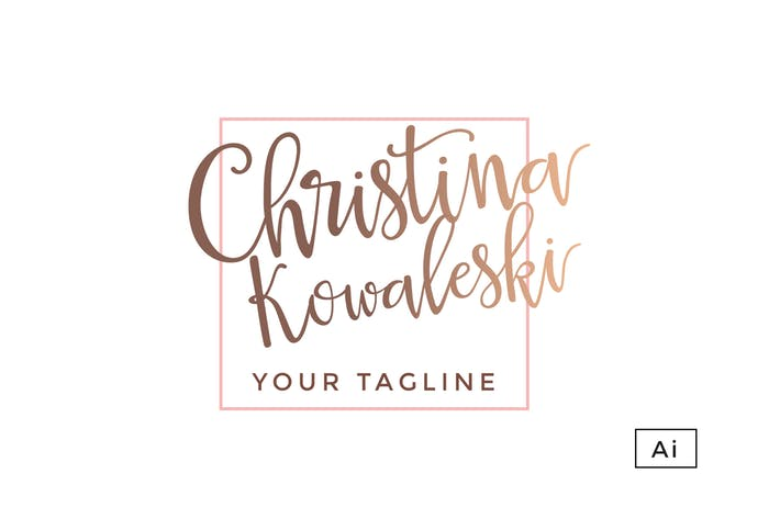 Rose Gold Luxury Logo Template by 83Oranges on Envato Elements.