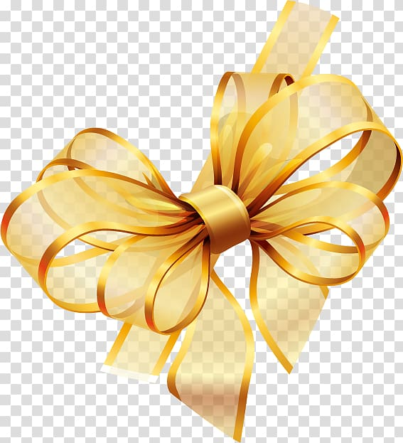 Gold, Ribbon, yellow ribbon illustration transparent.