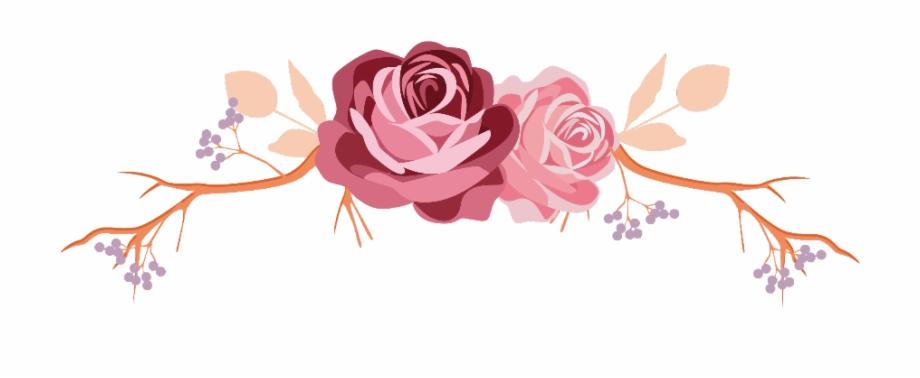 flowers #rose #roses #leaves #branch #divider #border.