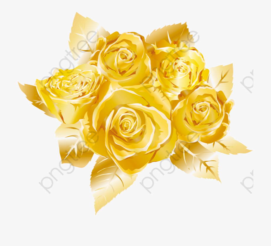 Gold Clipart Rose.