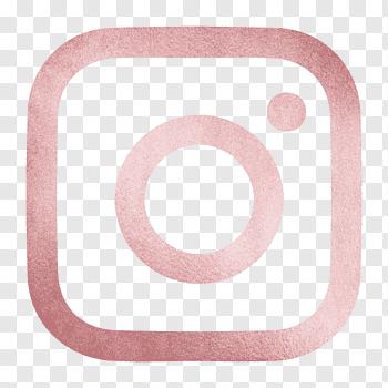 Blue and gold Instagram logo, Social media Gold Logo Brand.