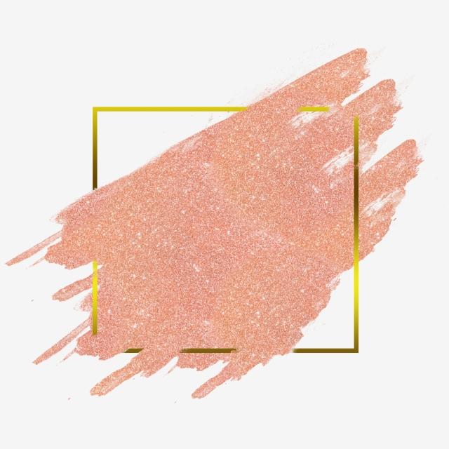 Rose Gold Watercolor Frame Hologram Png, Gold, Rose Gold.