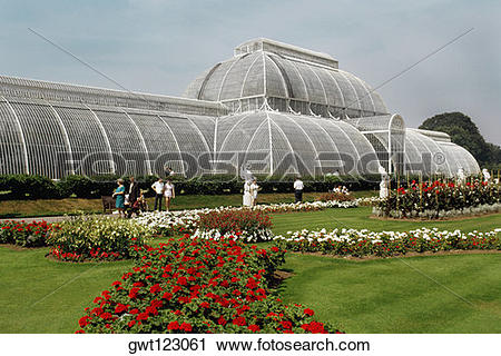 Stock Photography of Red roses in Rose Garden & Green House, Kew.