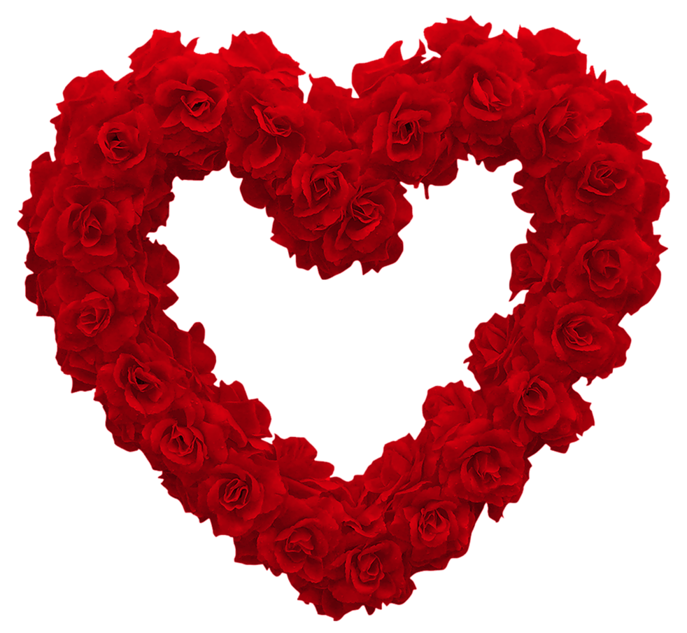 Transparent Rose Heart PNG Clipart Picture.