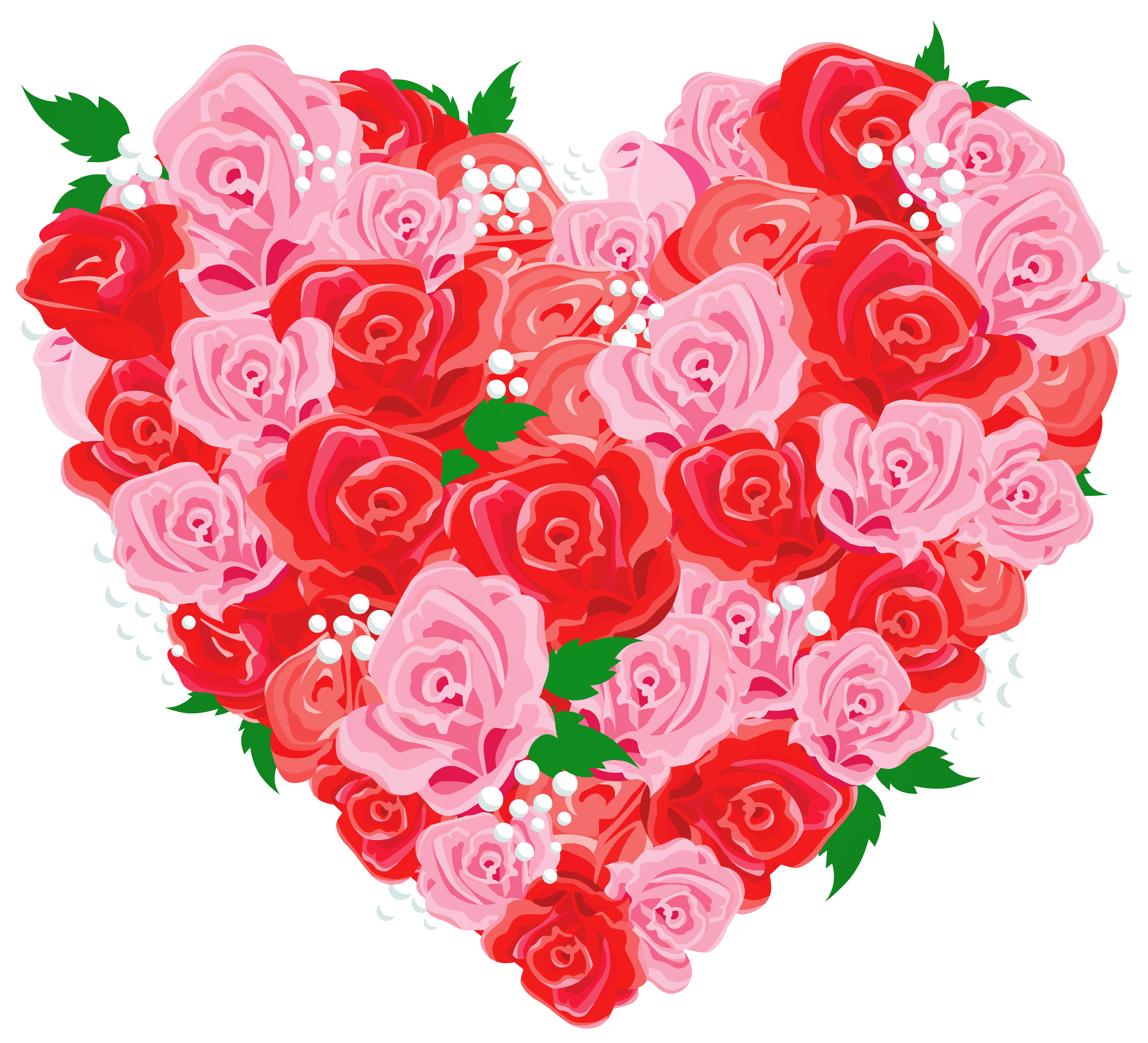 Deco Rose Heart PNG Clipart Picture.