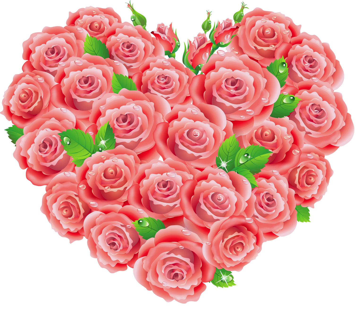 Red Roses Heart Clipart.