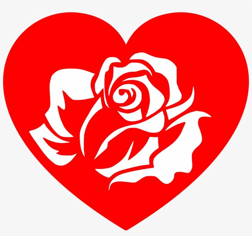 Rose Heart Clipart.