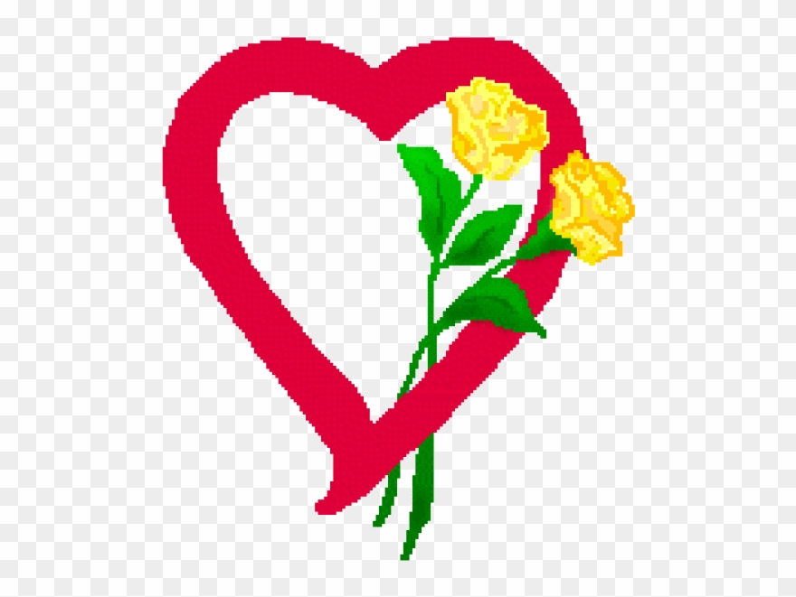 Graphics For Yellow Rose Heart Graphics.