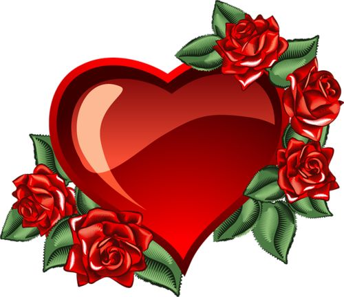 Heart And Rose Clipart.