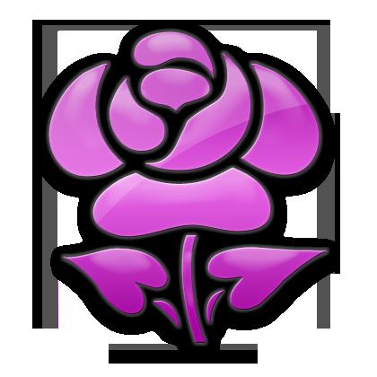Single Rose Icon Version 1 #053351 » Icons Etc.