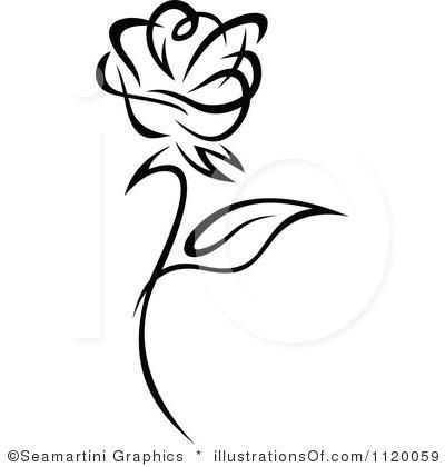 Rose Clipart Black And White & Rose Black And White Clip Art.
