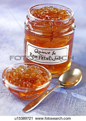 Stock Photography of Quince And Rose Petal Jelly.
