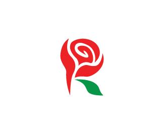 Rose Logo Letter R Designed by artuso.