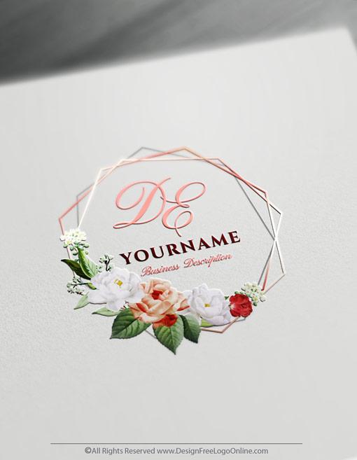 Create Vintage Rose Logo Design.