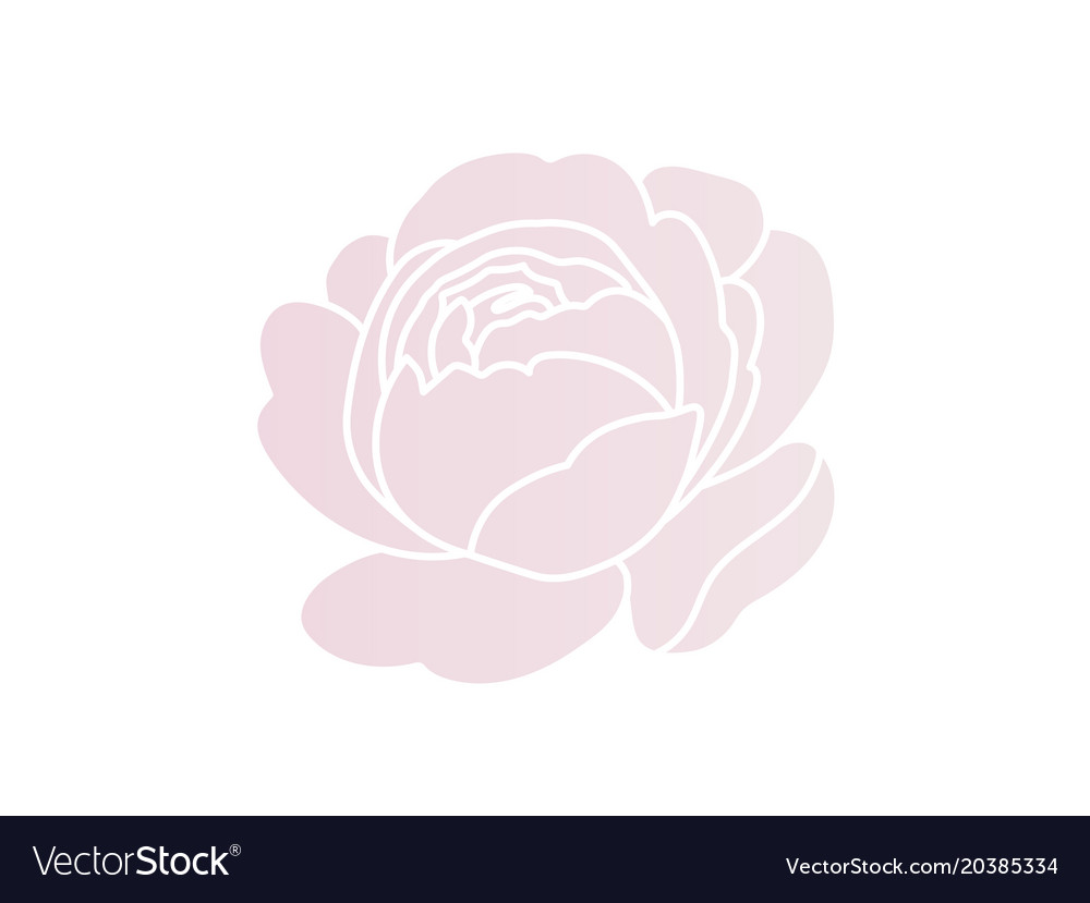 Blush pink rose logo design simple and styled.
