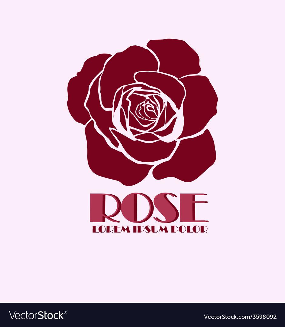 Rose logo design template.