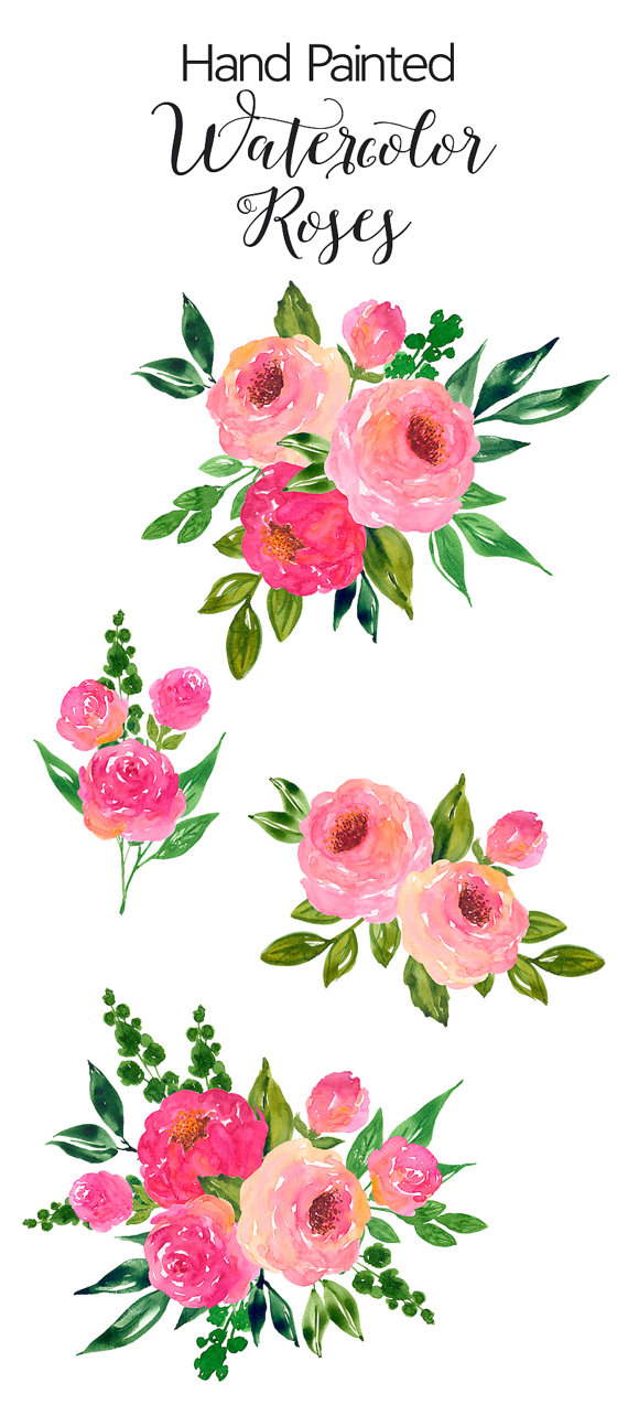 Watercolour Flower Clip Art.