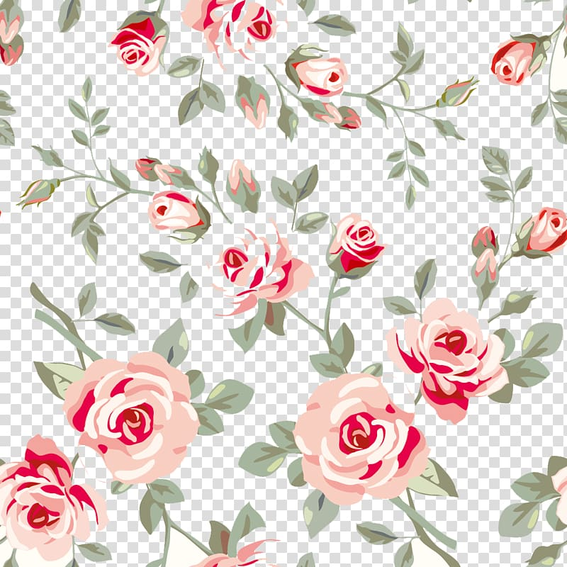 Brown and red flowers illustration, Rose Flower Floral.