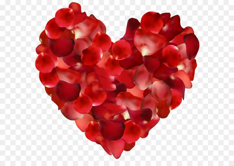 Petal Rose Heart Clip art.