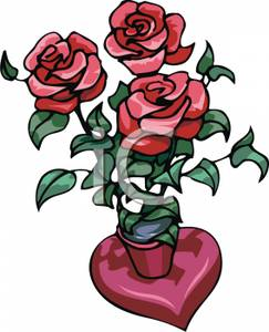 Image: A Potted Rose Plant.