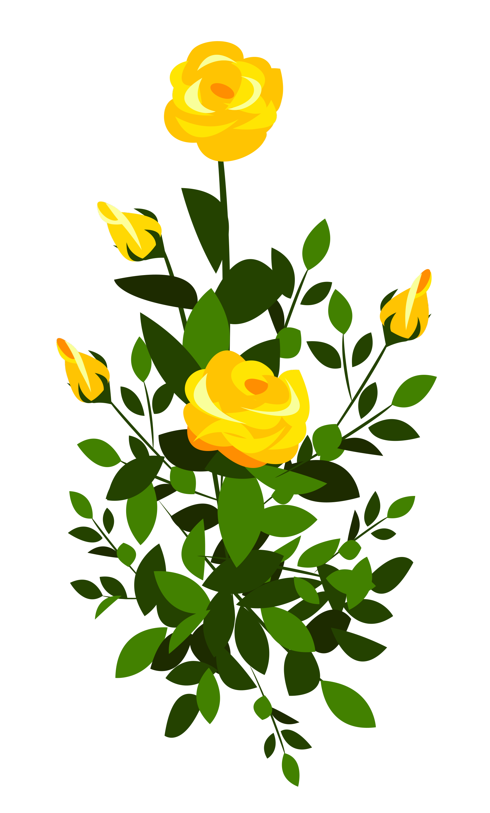 Rose Bush Clip Art.